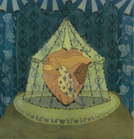 Christin Ciaccio   Circus of Trust , 2003 watercolor on paper