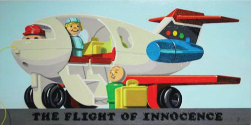 Jonathan Fenske   the Flight of Innocence , 2002 acrylic on panel