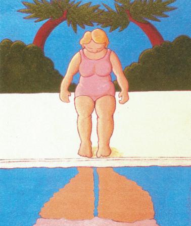 Barbara Schreiber   Rorscach , 2003 acrylic on paper