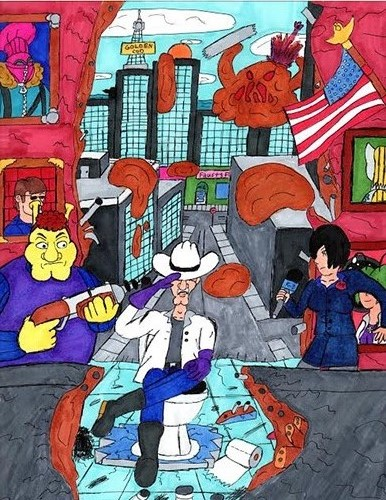 Ricky Barker   The Scientific Adventures of PRAD & Friends Issue #1 , 2014 marker on paper 8 x 11 inches