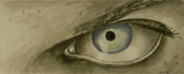 JoAnna Jarosz   Jason's Eyes , 2013 watercolor on paper 2.25 x 10.5 inches