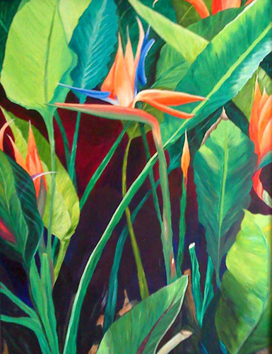Ginger Adams   Bird of Paradise , 2008 oil on canvas