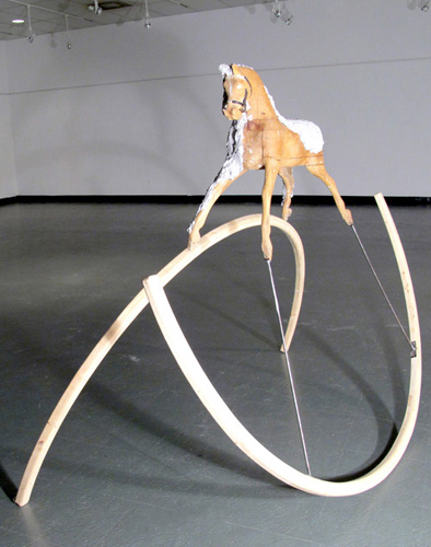 Mihaela Savu   The Horse , 2009 wood