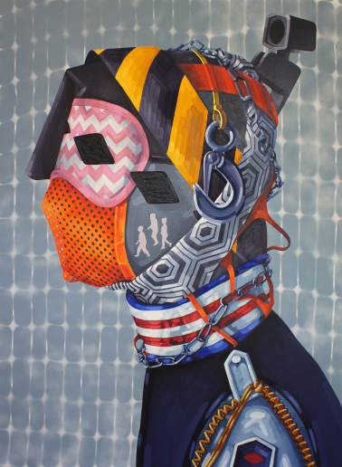 John Norris   Guard , 2014 oil on canvas 56 x 42 inches