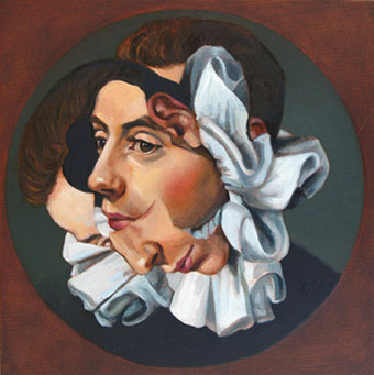 Melissa Wilkinson   Collar II; Itchy at the top , 2012 oil on panel
