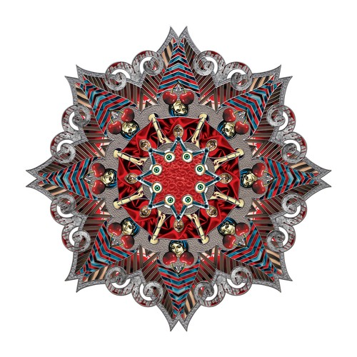 Nikki Arnell   Mandala Dark , 2014 ink on paper 42 x 42 inches