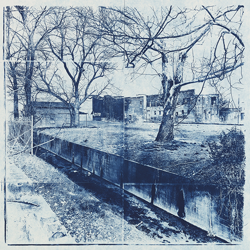 Beverly Buys   Missouri Street, Helena, Arkansas , 2016 cyanotype 15 x 15 inches