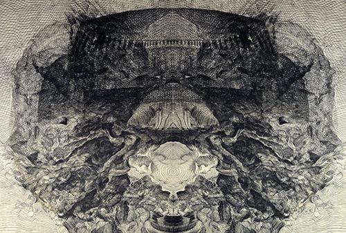 Koichi Yamamoto   Bukiyou , 2016 intaglio 16 x 24 inches