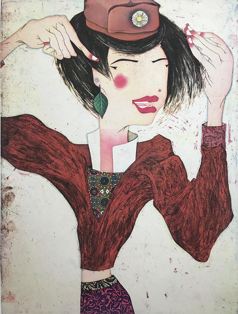 Yuji Hiratsuka   intaglio and chine collé  24 x 18 inches