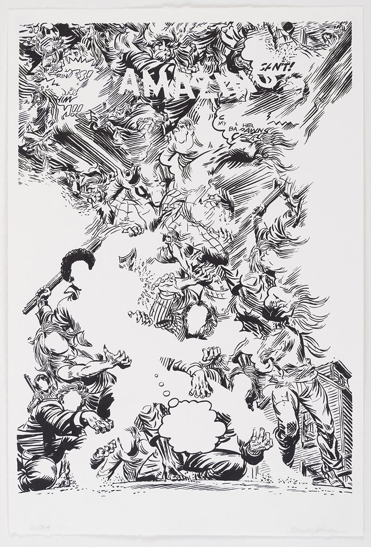 Brian Johnson   #138A , 2018 screenprint 22 x 15 inches