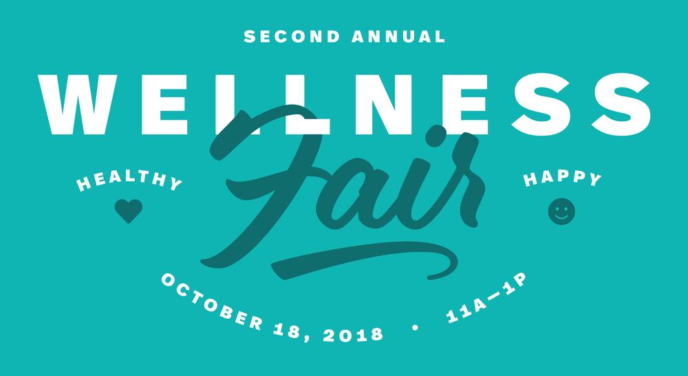 Wellness Fair  Event identity