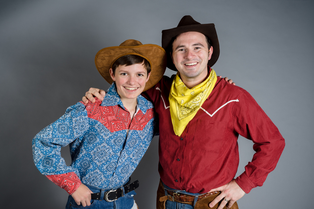 Quinn Gonzalez as Will Rogers, Jr. and Jason Aycock as Will Rogers