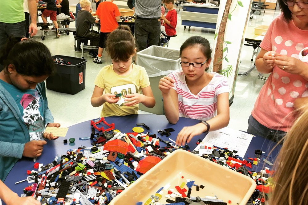 Overland Trail Elementary completed a lego sort for The Giving Brick during November 2016.