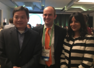 AACR-Pancreatic Cancer Action Network Career Development Award recipients Kian-Huat Lim, Chris Vakoc, Rushika Perera