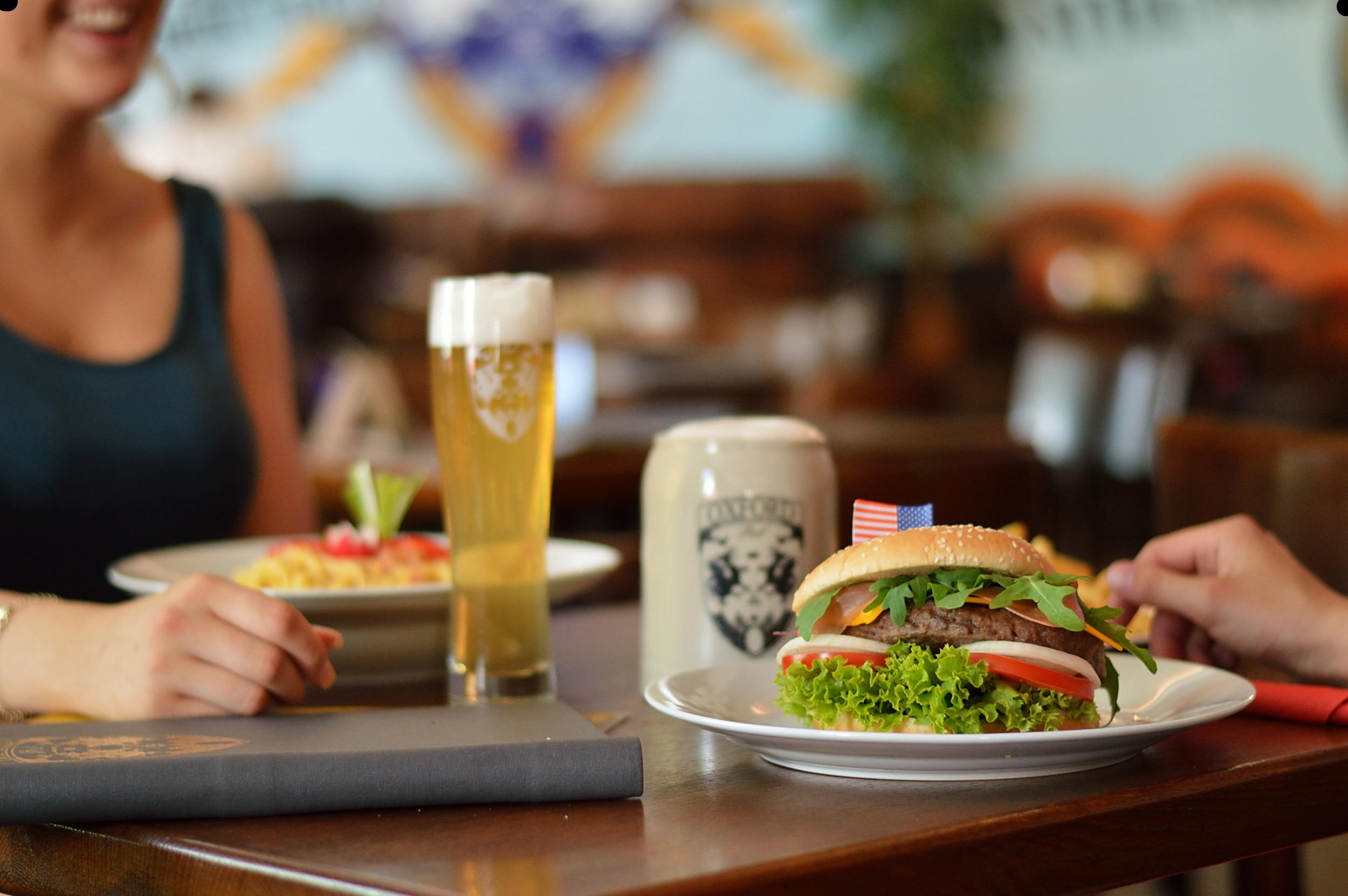 Oxford Pub Bier Burger