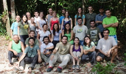 Students, instructors, assistants and cooking team at Camp 41 (Photo by Pablo Elizondo.)