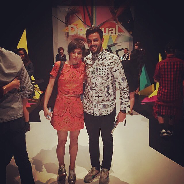 At fashion week! #desigual #nyfw