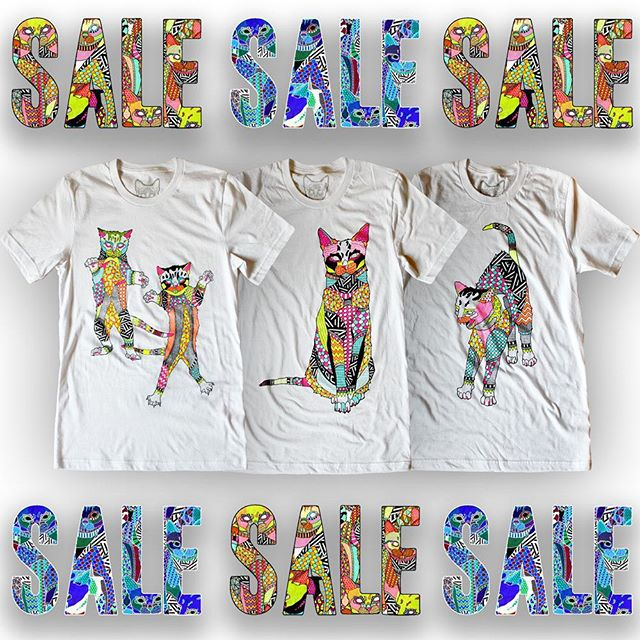 SALE ON COLORED #neonbodegacats T-SHIRTS ONLINE !!!! ALL COLORED  T-SHIRTS 50$  www.neonbodegacats.com