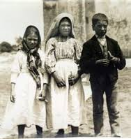 Jacinta and Francisco Marto and Lucia Santos