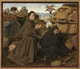 St. Francis of Assisi Receiving the Stigmata,  Jan van Eyck, c. 1430