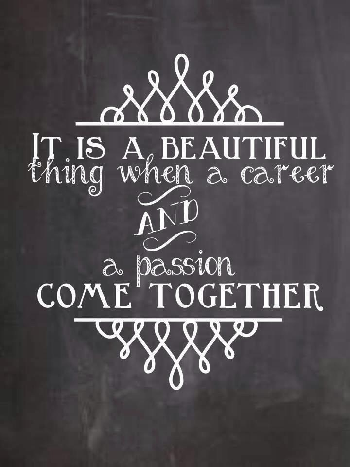 career plus passion quote