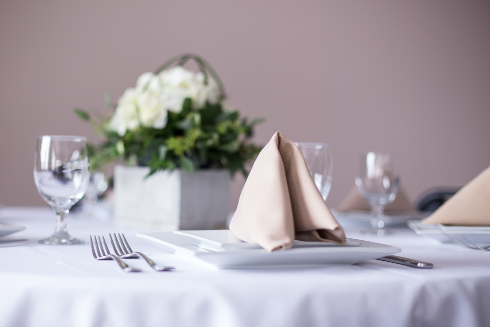 banquet hall table setting