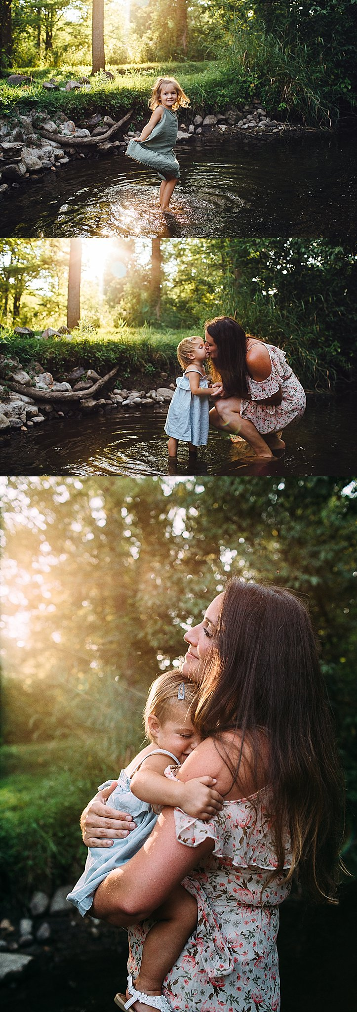 Kalamazoo Michigan Family Photos in Creek