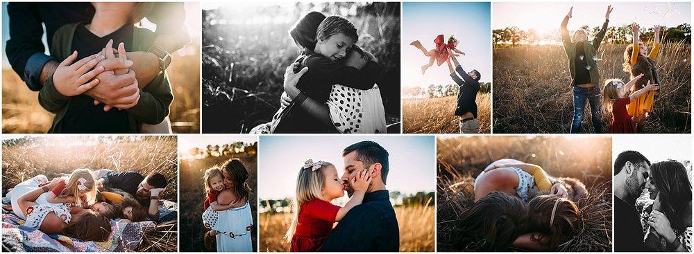 family photography fall field