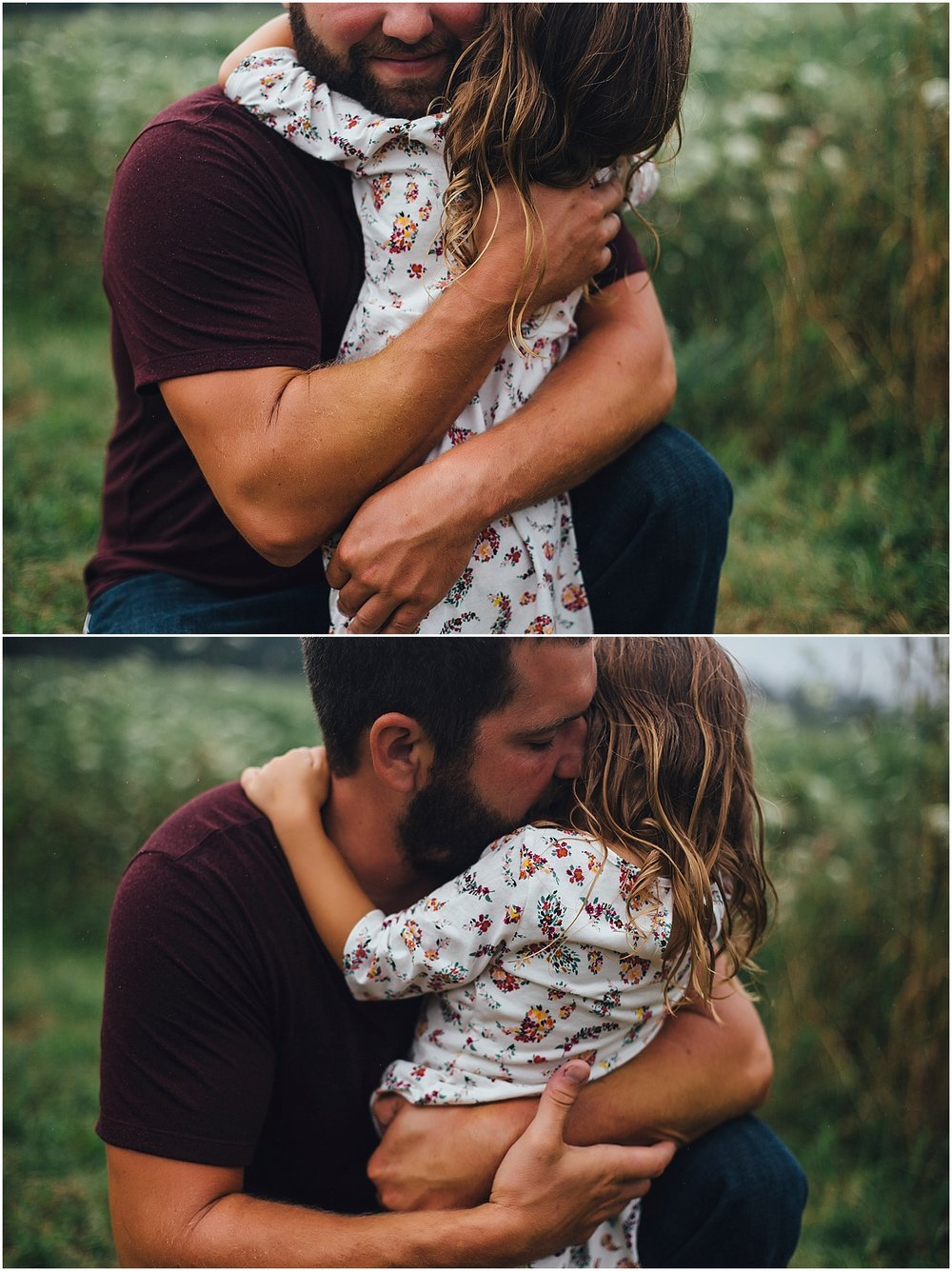 dad hugging daughter
