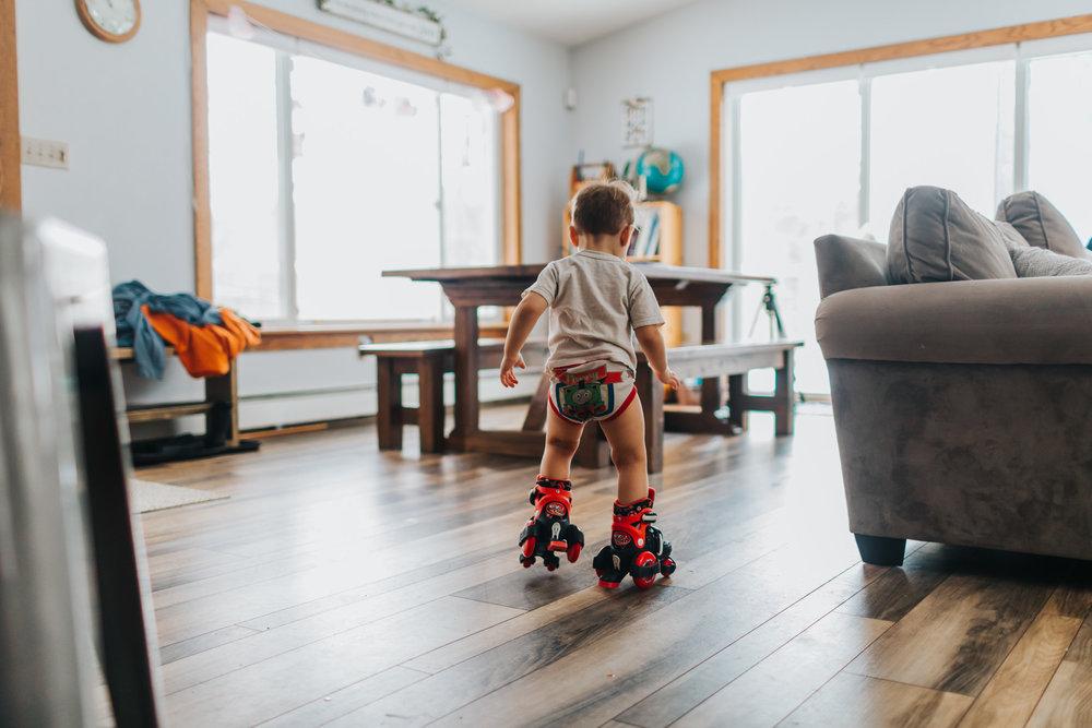 toddler rollerblading