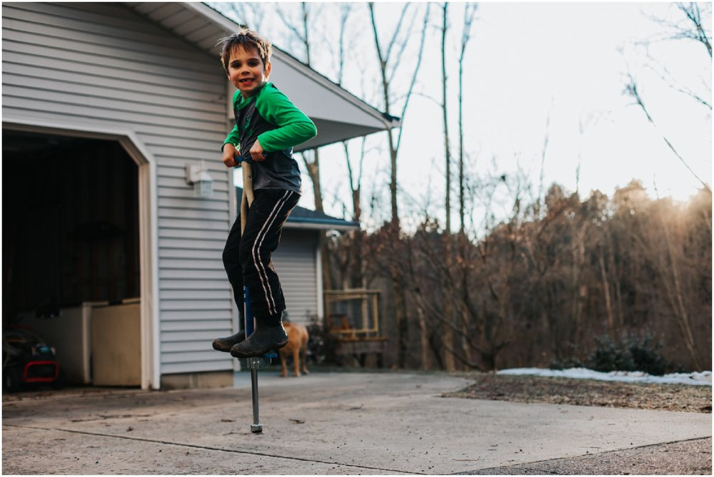 Every family needs a good pogo stick. A friend kindly passed this on to us after her kids were done with it, and it's been such a fun form of entertainment! I've found myself randomly jumping and honesty, it's addicting.