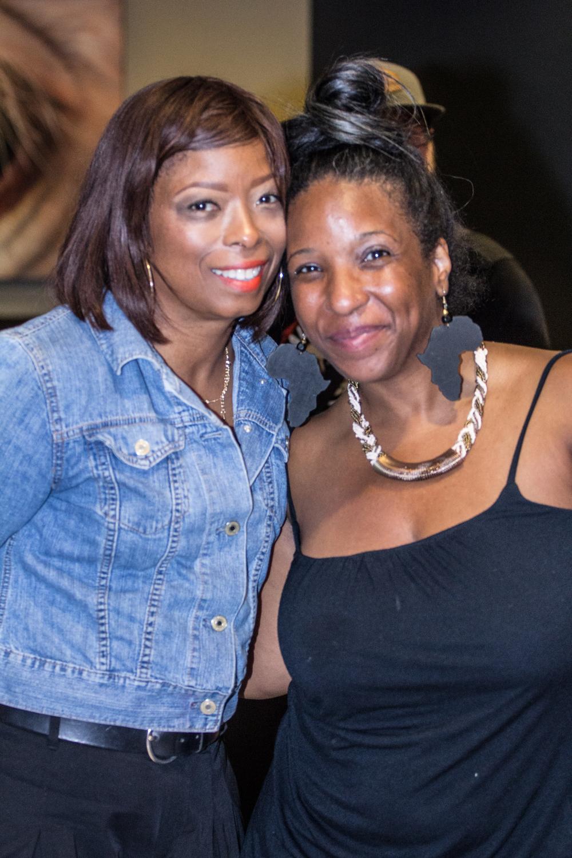 Stellar Award winner Maurette Brown Clark with Creative Nomads Executive Director Kayenecha Daugherty