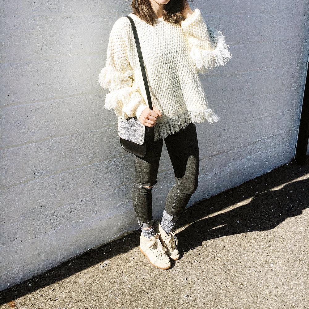 rue stiic oversized sweater via taylorkristiina.com