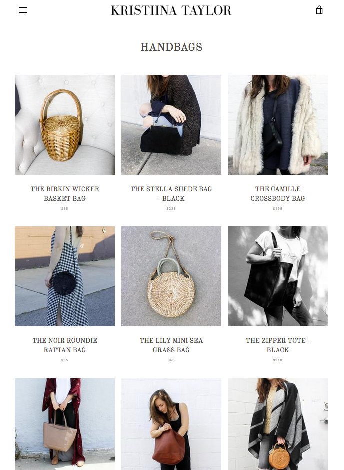 Kristiina Taylor Handbags and Accessories
