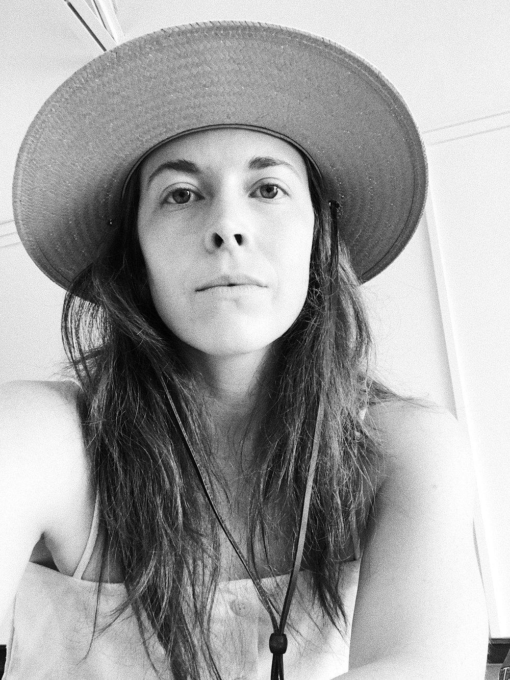 Wearing Tio y Tia Paloma Hat.