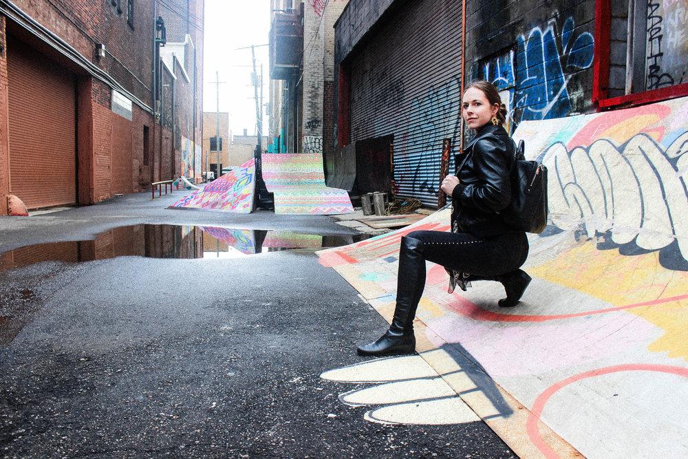 Wearing Alexander McQueen Scarf, Rag and Bone Jeans, and Stuart Weitzman 50/50 Boots. - taylorkristiina.com