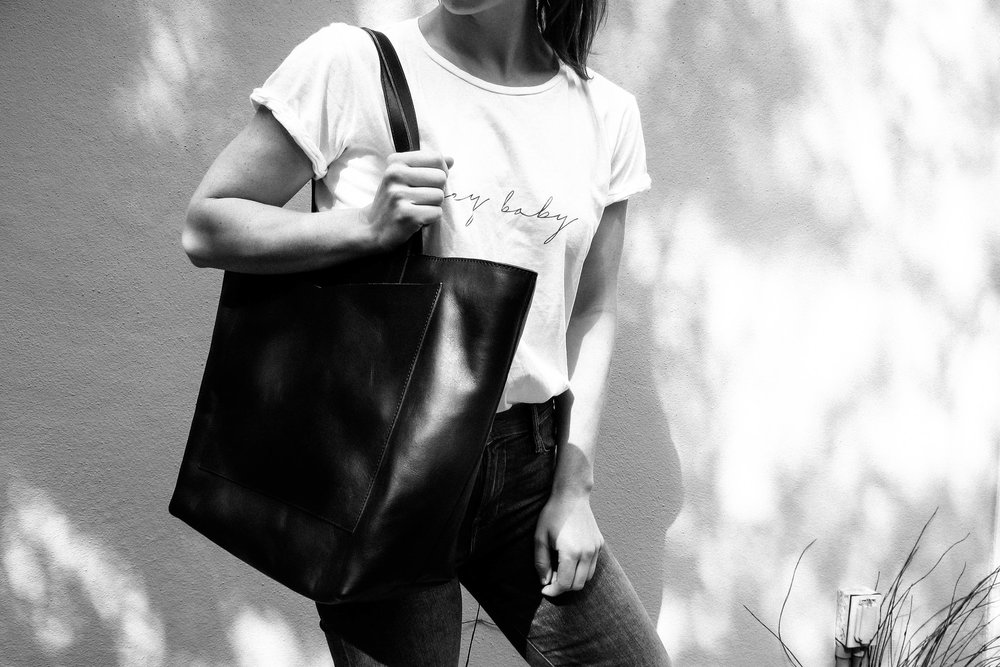 Wild Side T-Shirt from Rat & Boa + Vanessa Tote Bag from Kristiina Taylor