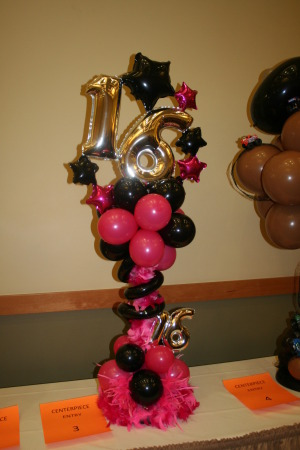 Sweet 16 Decor Elegant Balloons