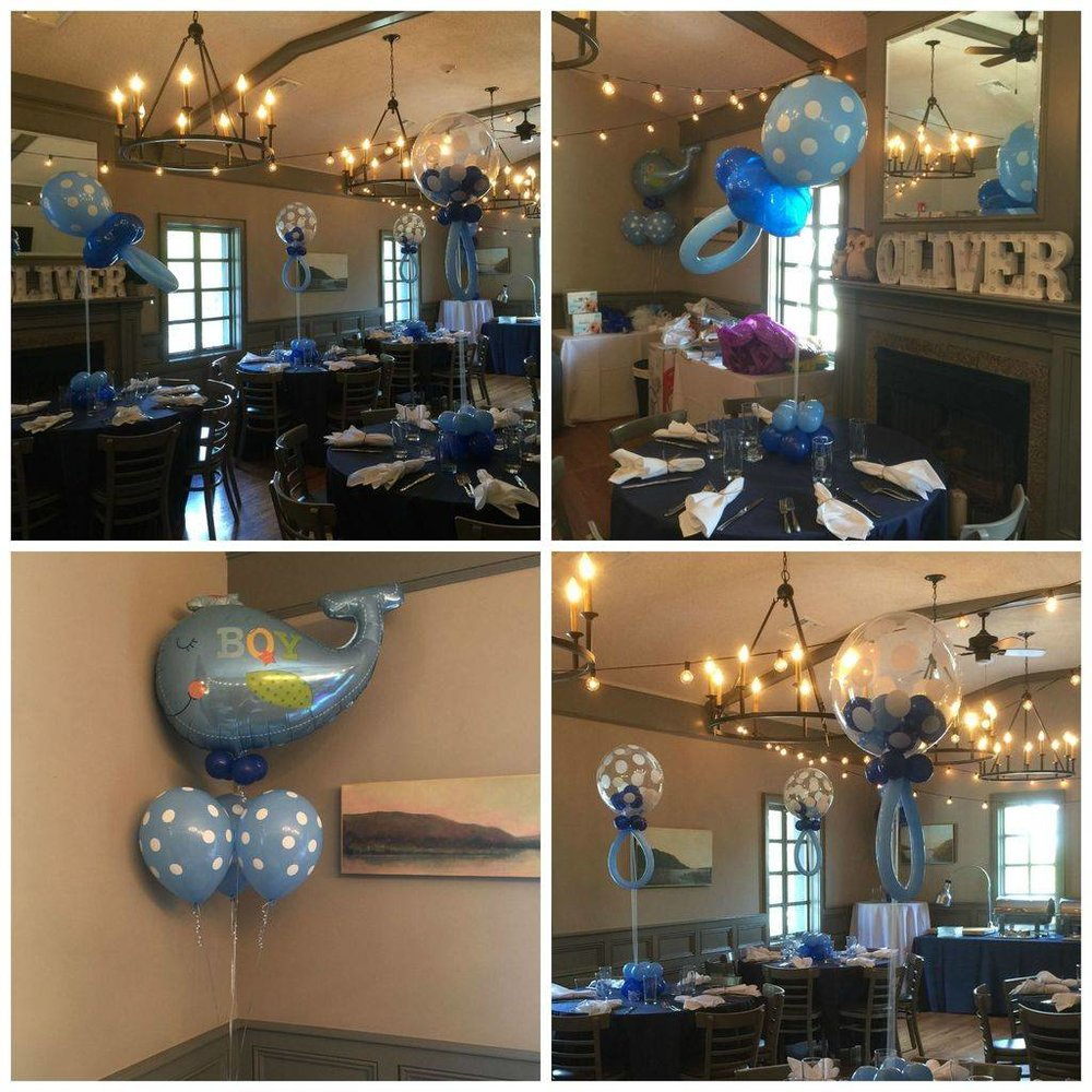 Nautical theme pacifier baby shower