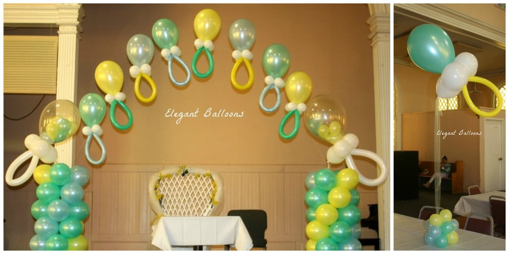 Pacifier Arch with Pacifier centerpieces