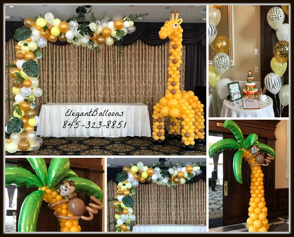 Safari Themed Organic balloons theme baby shower