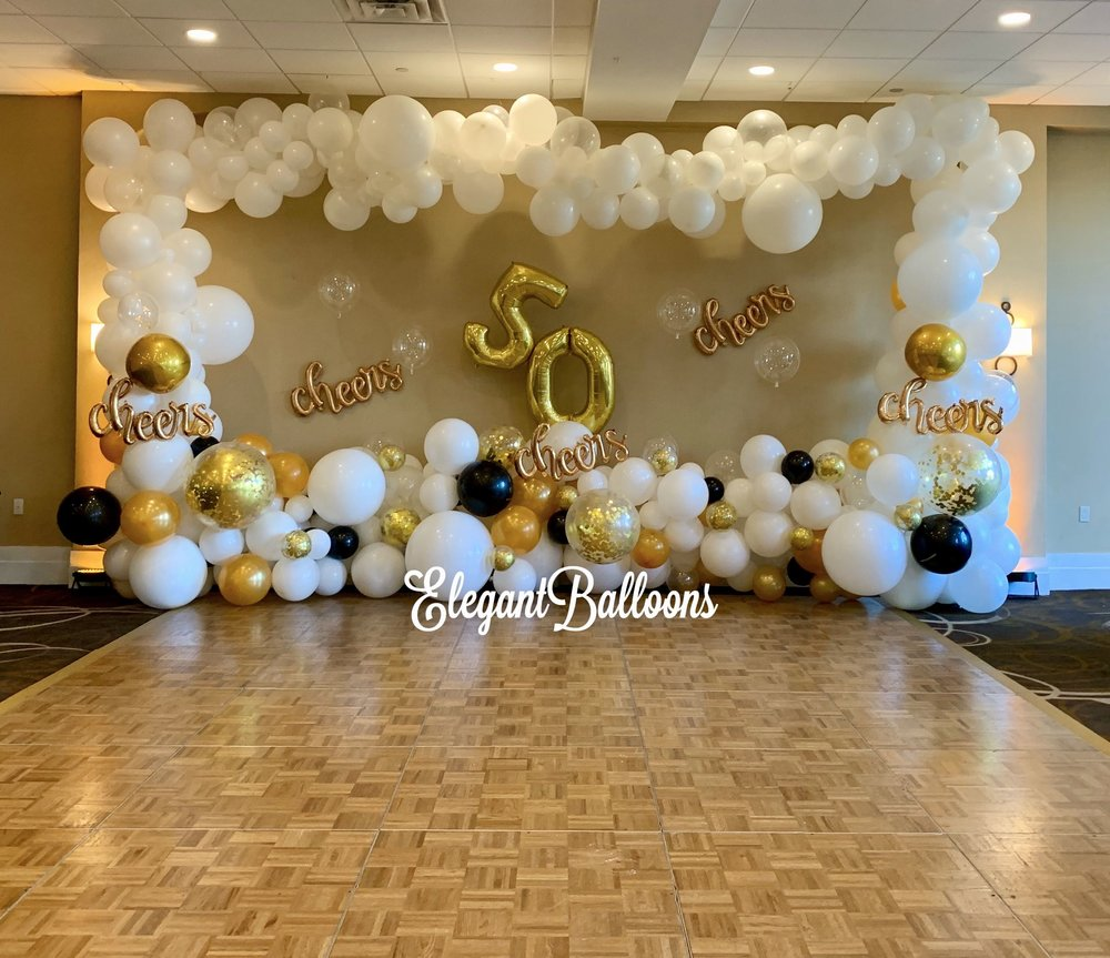 Organic balloon backdrop