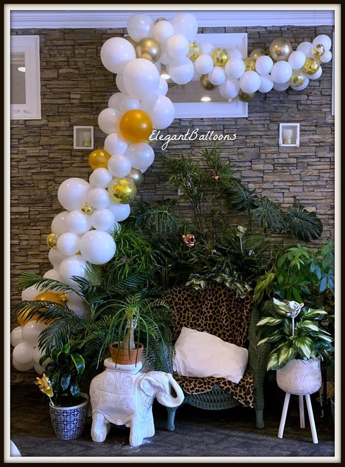 Organic baby shower garland