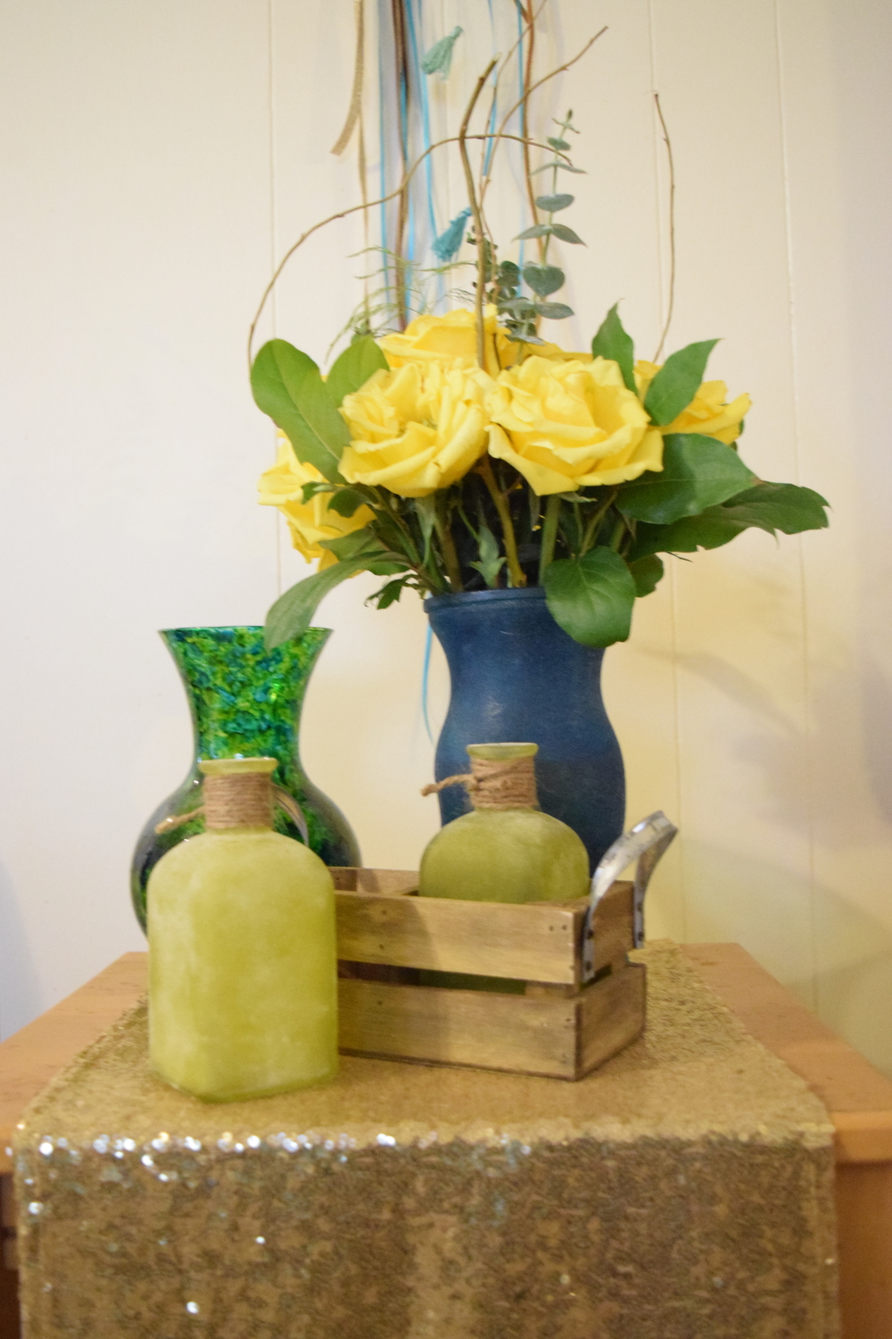 simple flowers with various vases