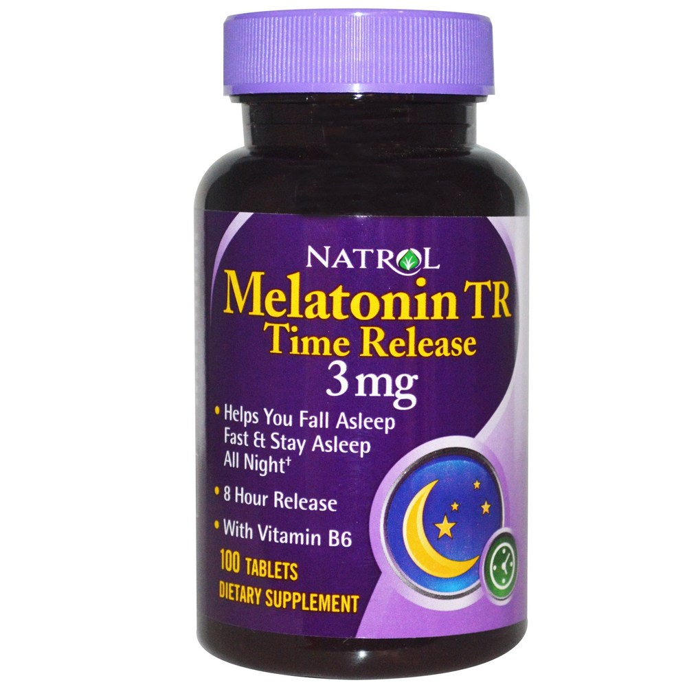 Natrol Time Release Melatonin- 3mg , $14.99 from Vitamin Shoppe