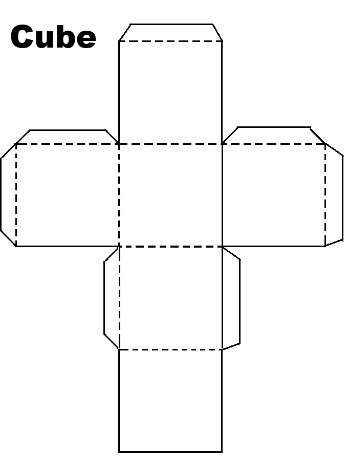 This is an image of Exceptional Printable Cube Template