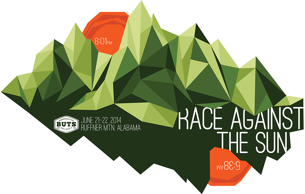 BUTS (Birmingham Ultra Trail Society) - Race Against the Sun Trail Event Branding