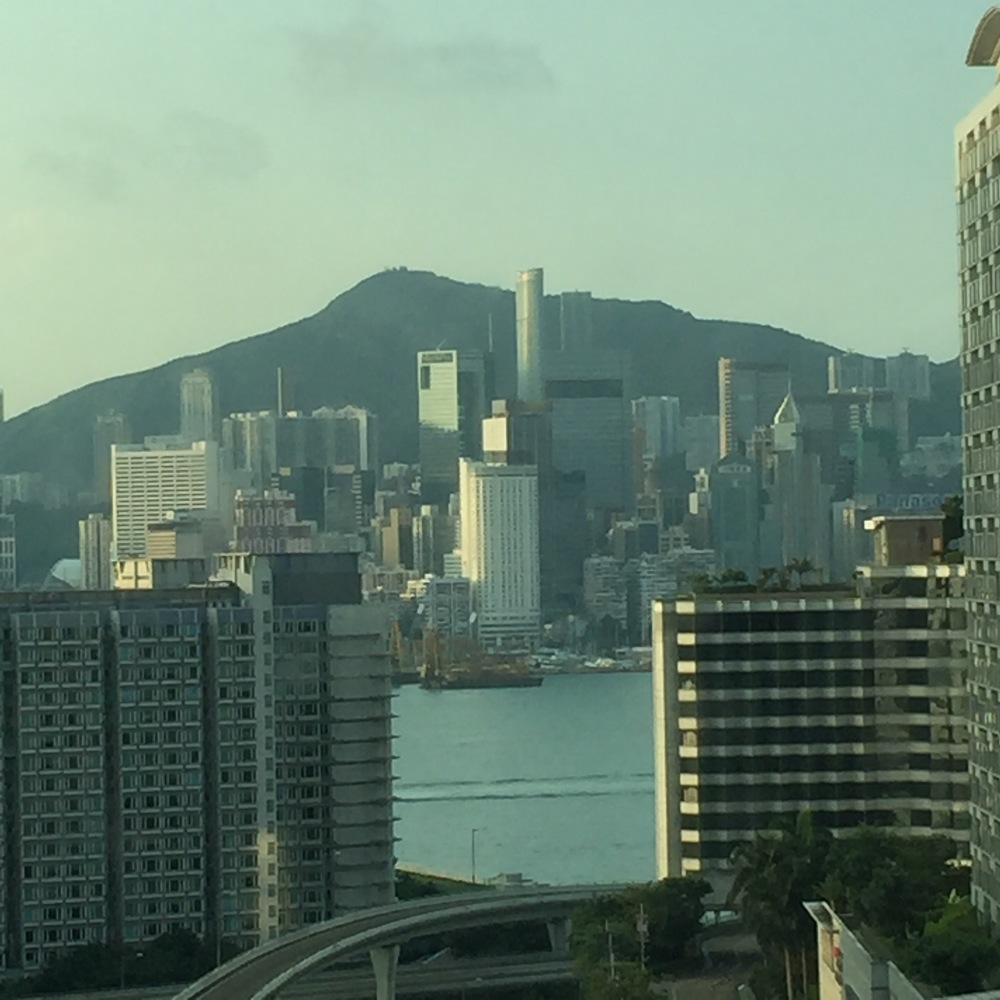 This was taken from the apartment in Hong Kong where we were able to rest. The apartment had an amazing view looking across Victoria Harbour at Hong Kong island.