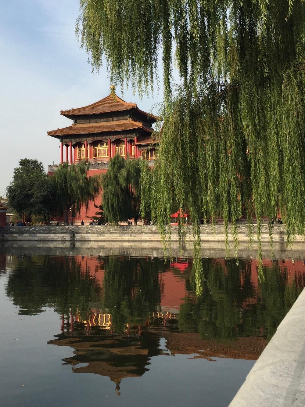 Moat around Forbidden City.