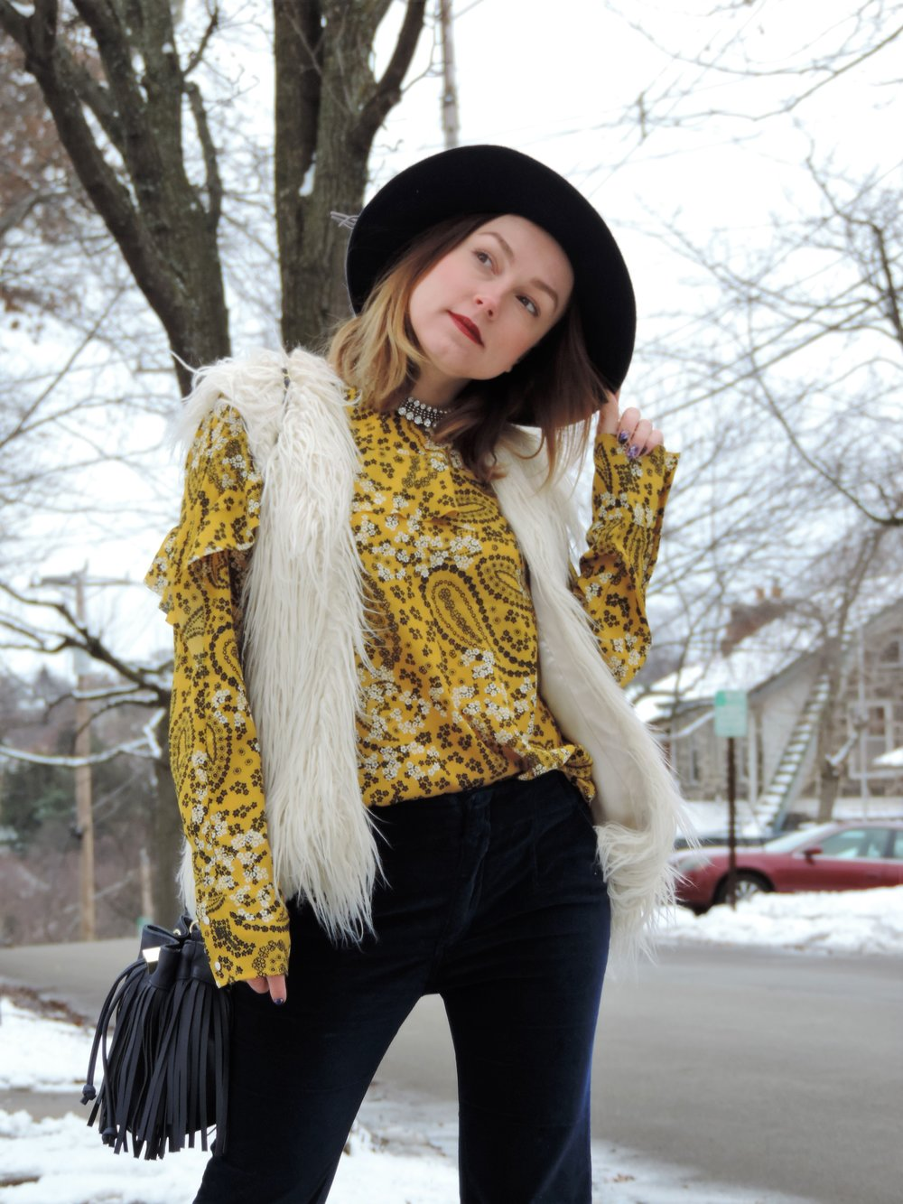 70s inspired outfit winter